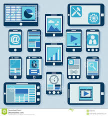 modern gadgets collection royalty free stock photos image 35582928