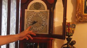Ridgeway Grandfather Clock Ebay Vintage U0027tempus Fugit U0027 Grandfather Clock Youtube