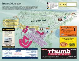 Michigan Campgrounds Map by Evergreen Park Sanilac County Parks