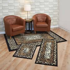 Leopard Bathroom Rug by 3 Piece Rug Sets