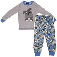 gray puppy pajamas for toddler boys