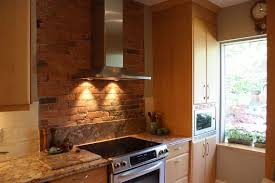 Kitchen Brick Backsplash Kitchen Fantastic Brick Look Kitchen Wall Tiles With Orange Tile