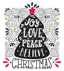 joy love peace quote merry christmas hand lettering