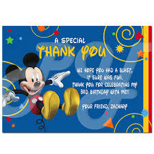 mickey mouse thank you cards mouse clubhouse personalized thank you cards