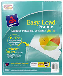 Best Sheet Brands On Amazon Amazon Com Avery Top Loading Clear Sheet Protectors Heavyweight