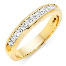 gold eternity ring 18ct gold diamond half eternity ring 0000099 beaverbrooks the