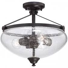 Flush Mounted Lighting Fixtures Nuvo 60 5544 3 Light Semi Flush Mounted Light Fixture In Sudbury