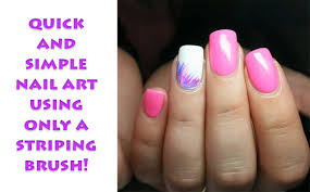 how to simple striping brush nail art youtube