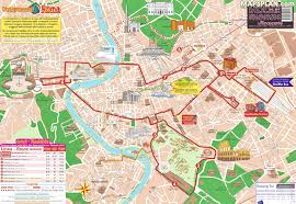 Map Rome Rome Map Double Decker Bus Open Top Hop On Hop Off