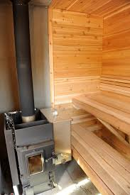 wood burning sauna feed from the outside or inside saunatimes