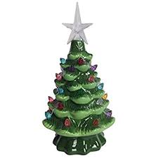 real mini christmas tree with lights amazon com nostalgic ceramic christmas tree led lighted mini tree
