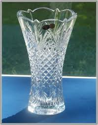 Antique Lead Crystal Vase Vintage Lead Crystal Cut Glass Vase Home Design Ideas