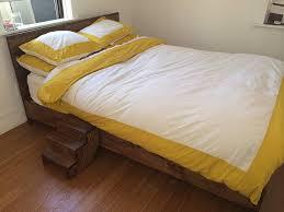 Platform Bed Headboard Practical Idea To Rustic Platform Bed Laluz Nyc Home Design