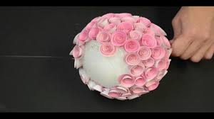 Flower Topiary Memory Box Paper Rose Topiary Making Paper Flower Youtube