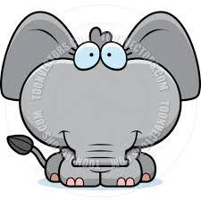 cartoon elephant calf smiling by cory thoman toon vectors eps 5188