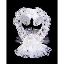 lace heart bells cake topper wedding cake toppers wedding