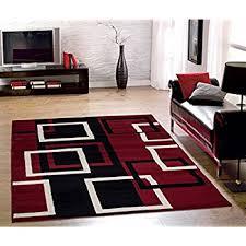 Throw Rug On Top Of Carpet Amazon Com 2305 Gray Black Red White Swirls 5 U00272 X7 U00272 Modern