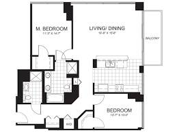 High Rise Floor Plans by The Two Bedroom Two Bath Tango Five New Downtown Condos U2013 Yochicago