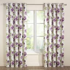 interior lavender blackout curtains with sheer valance for window