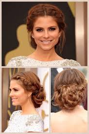 maria menounos with a middle part updo i wanna do this for sunday