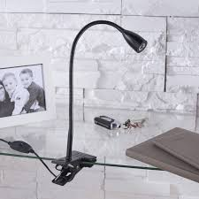 le bureau pince le de bureau led intégrée à pince noir led gao inspire leroy