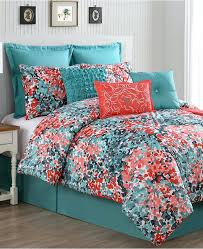Coral And Teal Bedding Sets Navy And Aqua Bedding Stephanegalland