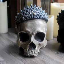 home decoration personality retro crown skull skull ornaments bar