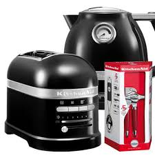 Toaster Kitchenaid Kitchenaid Artisan Onyx Black 2 Slot Toaster And Kettle Set