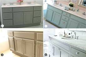 Painted Bathroom Cabinet Ideas How To Refinish Bathroom Cabinets With Paint Cabinet Designs