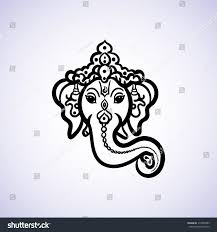 Text For Invitation Card Hand Drawn God Ganesh Indian Style Stock Vector 319520483