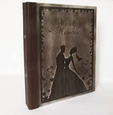 Engraved Wedding Albums Personalized Wedding Album Long Size Wooden Photo Album