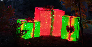 large lighted christmas bow pvc frame lighted gift boxes