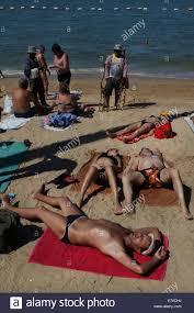russian beaches tourists sunbathing on pattaya beach thailand southeast asia