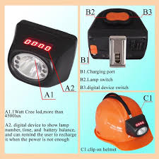 msha approved cordless mining lights for sale cree cordless led cap l underground mining ip65 with display screen