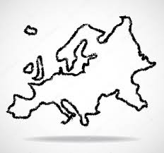 Outline Of World Map by Abstract Outline Of Europe Map U2014 Stock Vector Vladystock 105240880