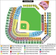 Petco Park Map Coors Field Colorado Rockies Ballpark Ballparks Of Baseball