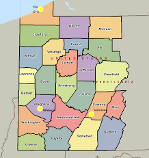 map of counties in pa pa map my