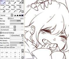 best paint tool sai lineart settings google search paint tool