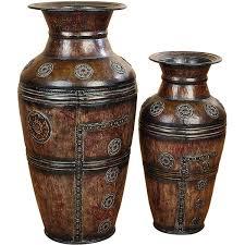 Large Metal Vase Athena Large Rustic Decorative Metal Vase 2 Piece Set Free