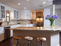 furniture kitchen island and cowhide bar stools wth white kitchen