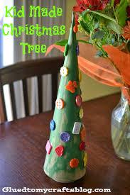 kid made christmas tree kid friendly craft glued to my crafts
