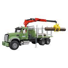 bruder mack granite low loader truck and jcb backhoe loader 2