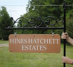 buy custom ornamental iron signs made to order from covington