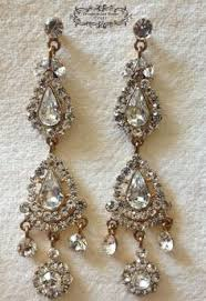vintage wedding earrings chandeliers chandelier wedding earrings vintage style statement