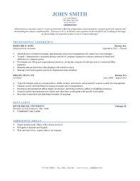 Proforma Of Resume For Job by Resume Formatting Sample Resume Format