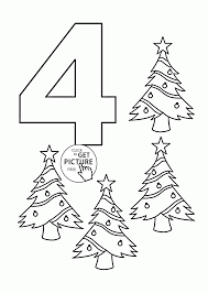 number 4 coloring pages for kids counting sheets printables free