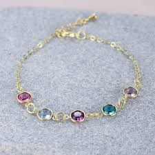 birthstone bracelets for family birthstone link bracelet by by corrine smith