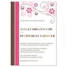 pink wedding invitations pink wedding invitations do it yourself printable fuschia pink