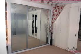 Mirrored Sliding Doors Closet Custom Wood Sliding Closet Doors Mirror Lowes Solid Interior