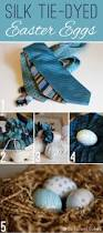 Decorating Easter Eggs With Silk Ties by Silk Tie Dyed Easter Eggs